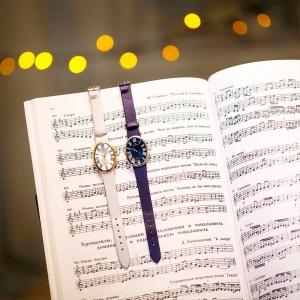 серебряные женские наручные часы LADY на нотах