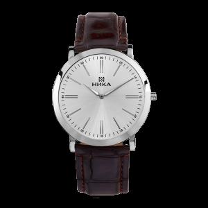 серебряные мужские часы Slimline 0100.0.9.25B
