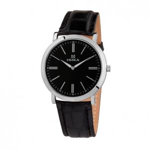 серебряные мужские часы Slimline 0100.0.9.55B