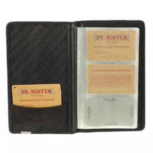 Визитница на 72 визитки или карточки с пластиковыми файлами Dr.Koffer X241771-01-04 фото