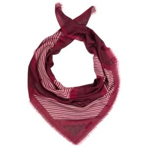 Женский шарф из смеси шерсти и шелка с классическими рисунками - полоской и горошком Dr.Koffer S810480-04-12 фото