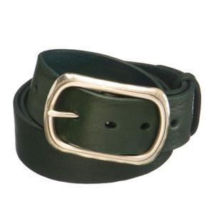 Зеленый кожаный ремень с золотистой пряжкой Dr.Koffer R068V04120-00-80 фото