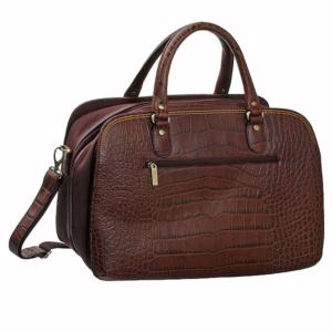 Изысканная дорожная сумка из кожи под крокодила Dr.Koffer P402171-80-09 фото