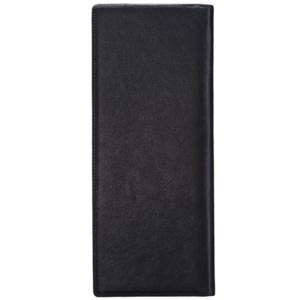 Настольная черного цвета визитница на 96 карточек с большим вертикальным карманом для записок Dr.Koffer X501028-02-04 фото