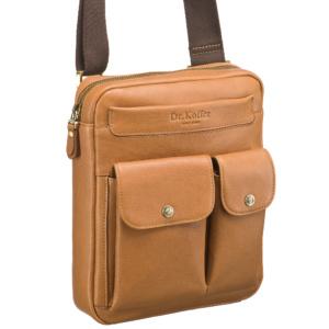 Светло-коричневая мужская сумка с двумя внешними карманами Dr.Koffer M402511-146-06 фото
