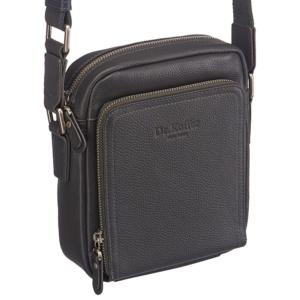 Серая кожаная сумка через плечо Dr.Koffer M402586-220-77 фото