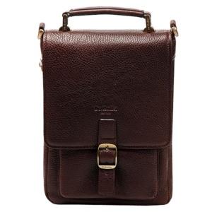 Сумка-планшет темно-коричневая со съемным плечевым ремнем Dr.Koffer P402140-02-09 фото
