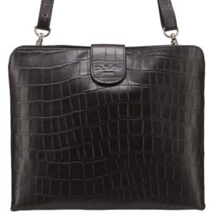 Черная сумка-чехол для iPad с тиснением под кожу Dr.Koffer M402528-102-04 фото
