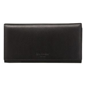 Черное портмоне-бюро на кнопке Dr.Koffer X510124-01-04 фото