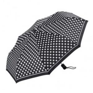 Черный женский зонт в горошек Dr.Koffer E411 1s2200 фото