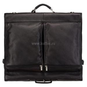Черный портплед с накладными передними карманами Dr.Koffer L188452-02-04 фото