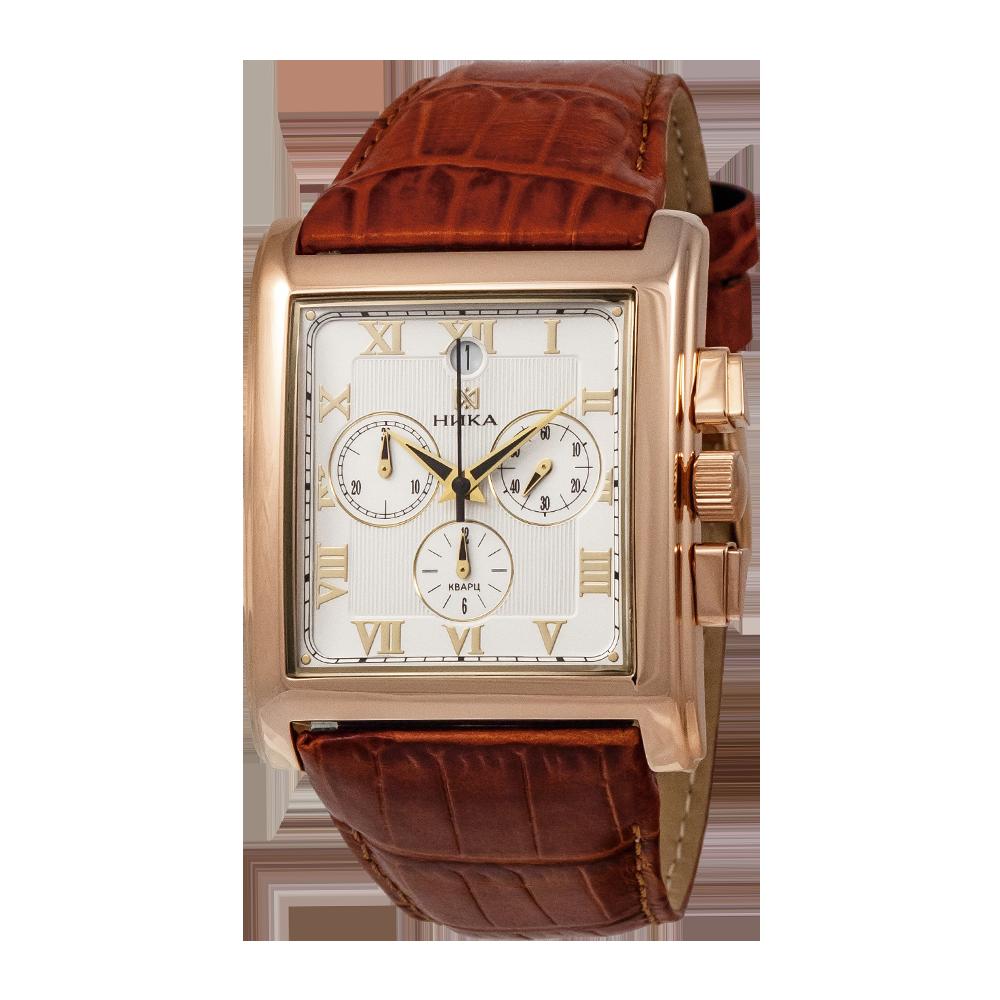Наручные часы ника  золотые часы из золота, проба.