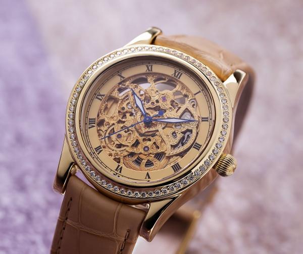 золотые женские часы НИКА EXCLUSIVE 1100.1.4.95