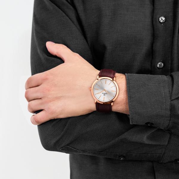 золотые мужские часы Slimline 0100.0.1.25B