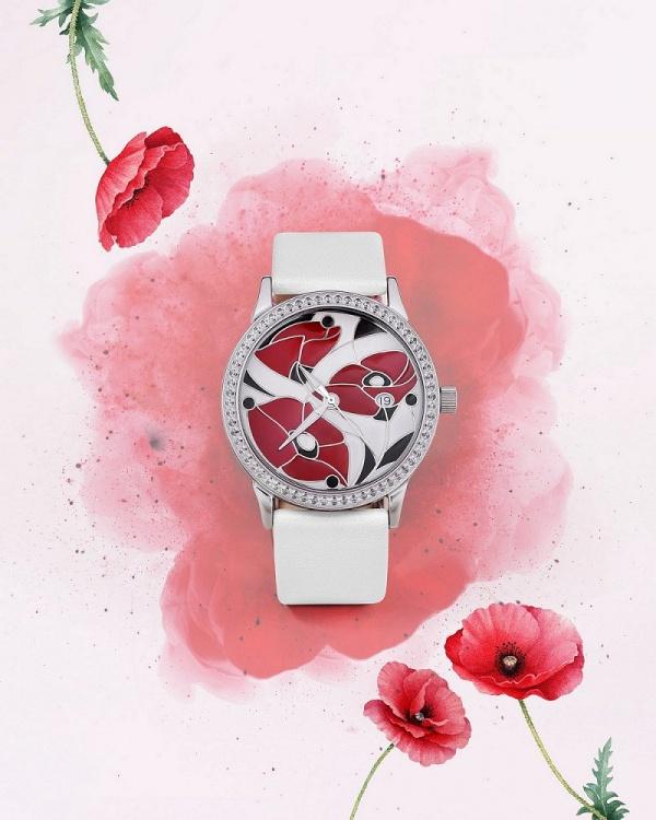 серебряные женские наручные часы Серебряные витражи 1812.2.9.97A