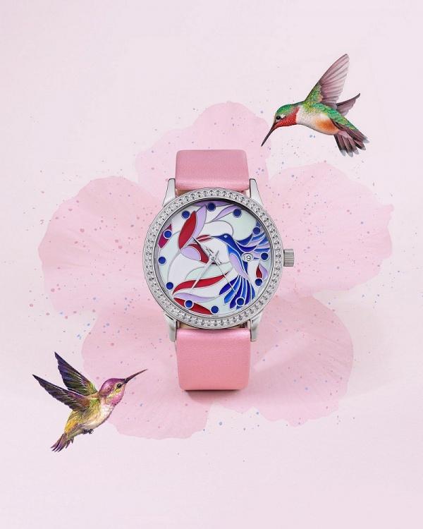 Серебряные женские наручные часы Серебряные витражи 1812.2.9.98A