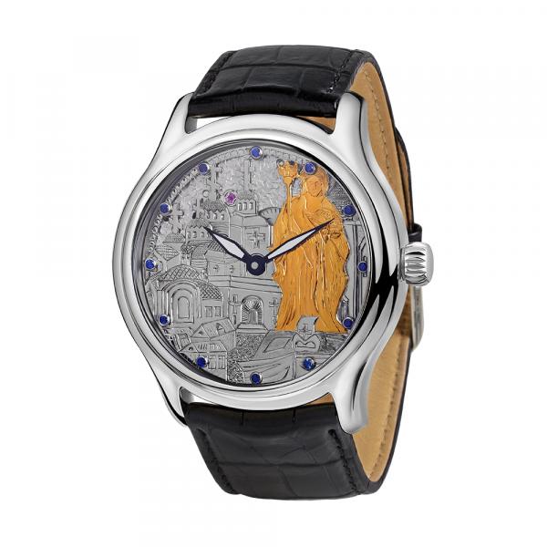 серебряные мужские часы НИКА EXCLUSIVE 1102.4.9.135B
