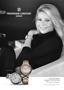 Frederique_Constant_Advertising_Image_A4_format_New_Ambassador_Gwyneth_Paltrow фото
